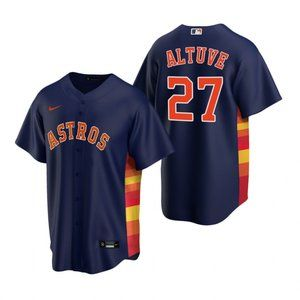 Youth Houston Astros #27 Jose Altuve Jersey